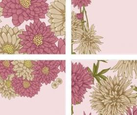 Beautiful flowers background vector design