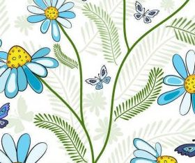 Seamless Flower Background vectors graphic