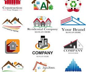 Real Estate Logo Set 5 vector