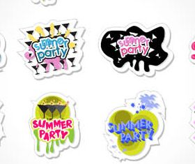 Summer Labels graphic vector