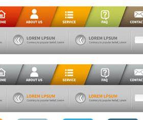 Website Navigation free vector