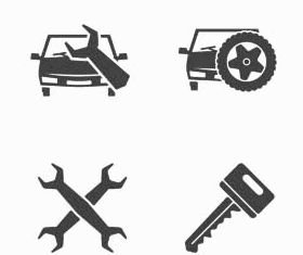 Car Service Icons Set vector