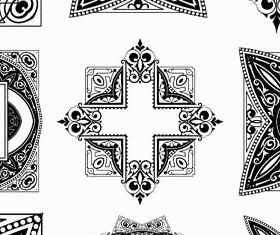 Baroque Design Elements vector graphics