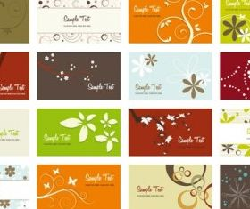 Flower card background 03 vector