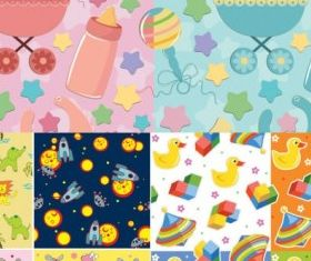 Infant baby cloth background color Illustration vector