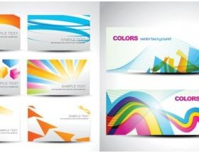 fashion color Background card vector