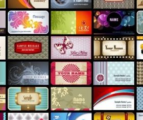 Card background pattern vectors graphic
