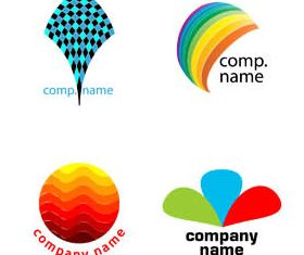 Abstract Business Logotypes 5 vector set