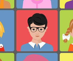 Colored People Avatars 8 creative vector