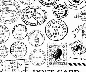 Retro Postal Stamps vector