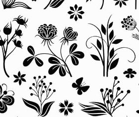 Floral Ornament Elements Mix 25 vector design