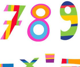 Creative Abstract Digits vector