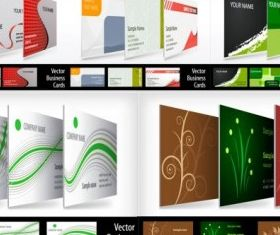 Threedimensional renderings show business card design vectors