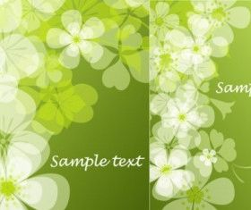 summer flowers background vector set