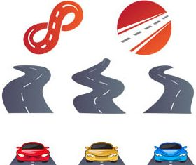 Logo with Roads vector