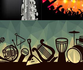 Music Party Backgrounds design vectors