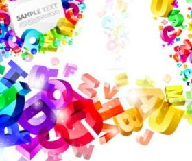 Threedimensional colorful letters vector