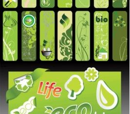 green living banner series vectors graphics