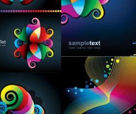 Symphony background vector set
