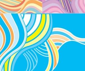 Fashion wave background vectors graphics