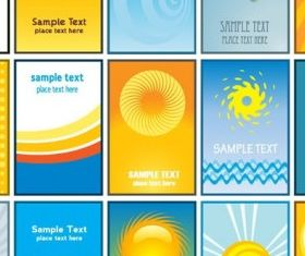 Sun theme card business card background vector