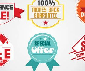 Sale Elements Set2 vector design