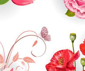 Different Flowers graphic vector set