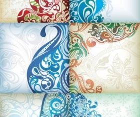 Delicate pattern background vectors material