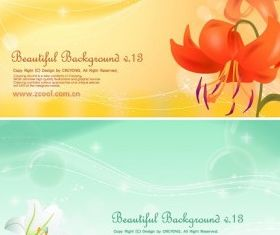 lilies background vector