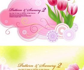 Tulips background Free design vector