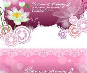 Lotus background Free design vector