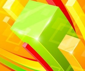background cube 5 vector