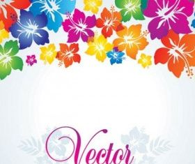 Colorful small flowers background 03 vector