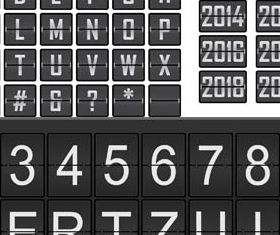 Scoreboard Alphabets Set vectors