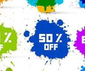 Splash Discount Sale Elements vector