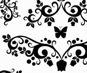 Floral Ornament Elements Mix 24 vector