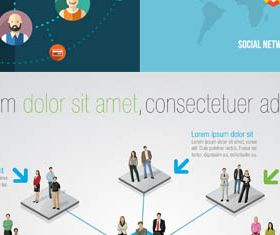 Social Network Backgrounds 4 design vectors