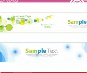 Horizontal Banner Set vectors