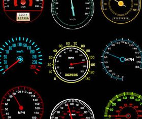 Speedometers free vector