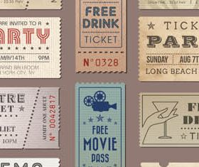 Vintage Tickets free Illustration vector