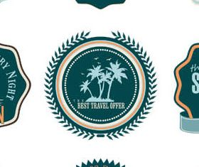 Summer Travel Labels vector set