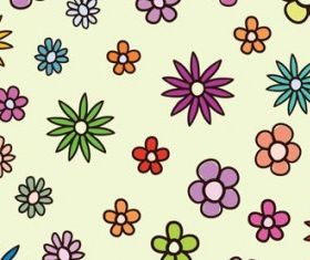 flowers background 1 vector