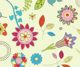 flowers background 3 vectors