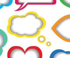Abstract Speech Bubbles Mix vector graphics