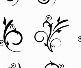 Floral Ornament Elements Mix 23 vector