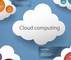 Clouds Infographic Backgrounds 2 Illustration vector
