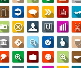 Flat Icons Set 5 vectors graphic