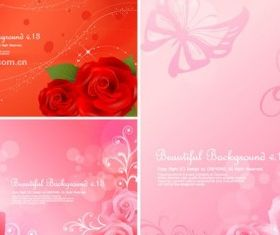 beautiful roses background vector