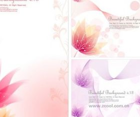 small flower background design vector
