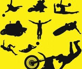 Sports silhouettes design vectors